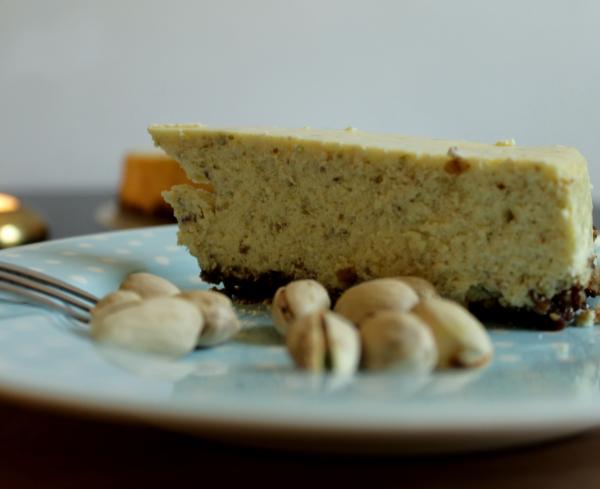 Pistazien-Käsekuchen Pistachio-Cheesecake