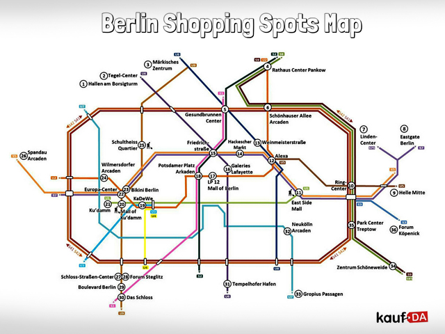 Berlin Shopping Map für Berlin