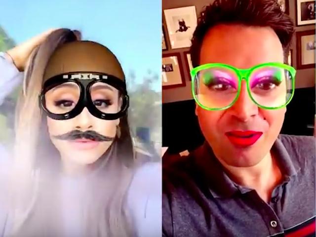 Ariane Grande Jimmy Fallon Snapchat