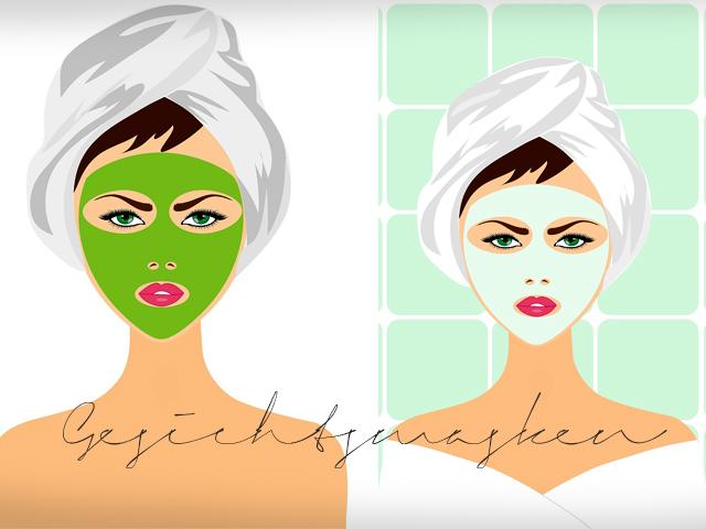 Gesichtsmasken Selbstgemachte Gesichtsmasken gekaufte Gesichtsmasken