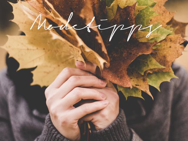 Modetipps für den Herbst