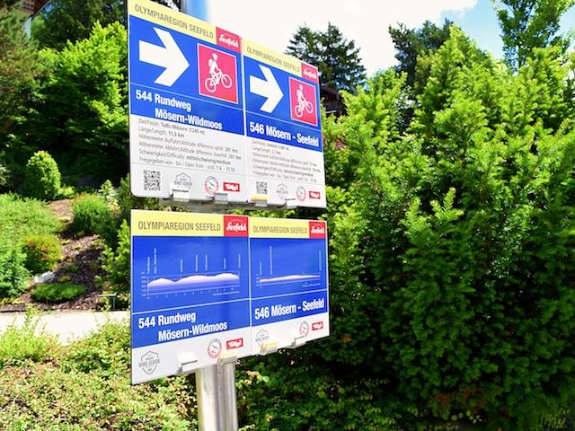 Beschilderung einer E-Bike Route in Seefeld