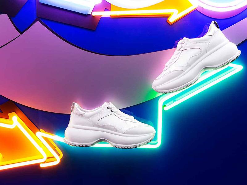 Damen Plateau Sneakers